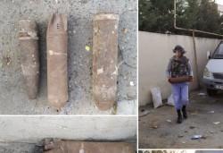 Bakıda məktəbin yaxınlığında iki top mərmisi və bir aviabomba aşkarlanıb