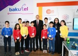Azərbaycan Prezidenti İlham Əliyev Bakutel-2019 sərgisi ilə tanış olub (Fotolar)