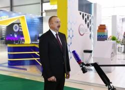 Rossiya-24 telekanalı Bakutel-2019 sərgisi ilə bağlı reportaj yayımlayıb Reportajda Prezident İlham Əliyevin müsahibəsi də yer alıb VİDEO